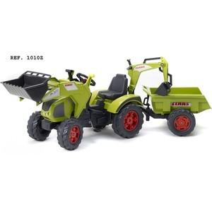 Фотография товара falk Трактор-экскаватор педальный с прицепом зеленый 225 см (FAL 1010Z) (645593)