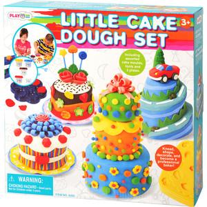 Playgo Набор с пластилином Праздничный торт (Play 8205) play doh игровой набор магазинчик домашних питомцев