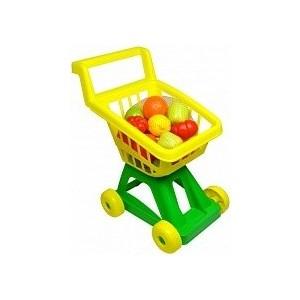 Совтехстром Тележка для супермаркета с набором овощей и фруктов (У902)