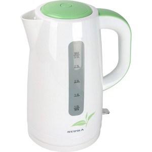 Чайник электрический Supra KES-3012 white/green электрический чайник supra kes 1701 white
