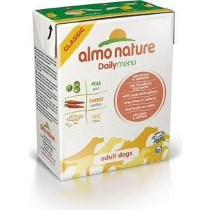 Консервы Almo Nature Daily Menu Adult Dog with Tuna and Salmon с тунцом и лососем для собак 375г (4071) almo nature almo nature alternative adult cat salmon