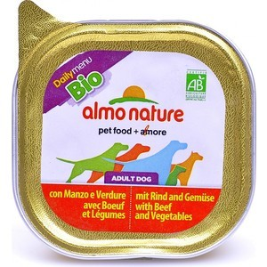 Консервы Almo Nature Daily Menu Bio Adult Dog with Beef and Vegetables с говядиной и овощами для собак 300г (2411) bio kleen bac out stain and odor eliminator