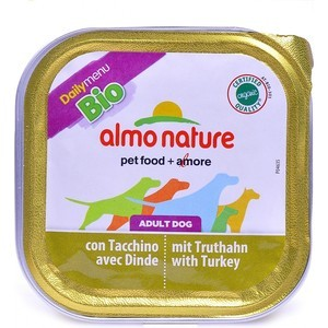 Консервы Almo Nature Daily Menu Bio Adult Dog with Turkey паштет с индейкой для собак 100г (1179) free shipping original jetbeam rrt 2 cree xm l2 led 550 lumens flashlight daily torch compatible with cr123 18650 battery