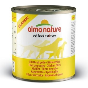 Консервы Almo Nature Classic Adult Dog with Chicken Fillet с куриным филе для собак 280г (4293) лапша бизнес меню с куриным филе б п 110г термотарелка