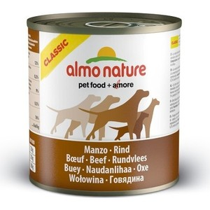 Консервы Almo Nature Classic Adult Dog with Beef с говядиной для собак 290г (4323) almo nature almo nature classic dog chicken fillet