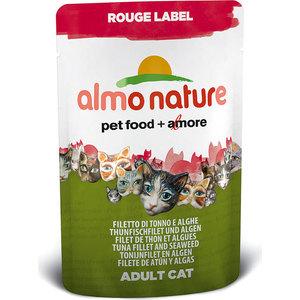 Паучи Almo Nature Rouge Label Adult Cat with Tuna Fillet and Seaweed с тунцом и морскими водорослями для кошек 55г (5832) matrix silver teflon fillet 79144
