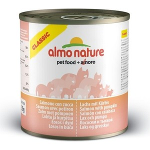 Консервы Almo Nature Classic Adult Cat with Salmon and Pumpkin с лососем и тыквой для кошек 280г (3784) almo nature almo nature alternative adult cat salmon