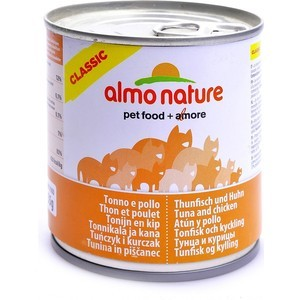 Консервы Almo Nature Classic Adult Cat with Tuna and Chicken с тунцом и курицей для кошек 280г (3791) консервы almo nature legend adult cat with tuna and clams с тунцом и моллюсками для кошек 70г 0929