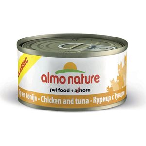 Консервы Almo Nature Classic Adult Cat with Chicken and Tuna с курицей и тунцом для кошек 140г (0271) паучи almo nature classic in jelly adult cat with tuna and white bait с тунцом и сардинками в желе для кошек 70г 8418