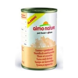 Консервы Almo Nature Classic Adult Cat with Tuna and Shrimps с тунцом и креветками для кошек 140г (0257)