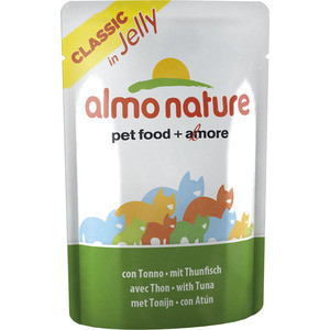 Паучи Almo Nature Classic in Jelly Adult Cat with Tuna с тунцом в желе для кошек 70г (0028) паучи almo nature classic in jelly adult cat with tuna and white bait с тунцом и сардинками в желе для кошек 70г 8418