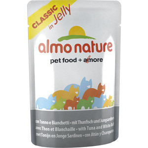 Паучи Almo Nature Classic in Jelly Adult Cat with Tuna and White Bait с тунцом и сардинками в желе для кошек 70г (8418) 55 hanks white stallion violin bow hair 6 grams each hank in 32 inches