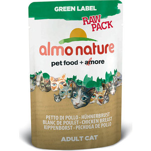 Паучи Almo Nature Green Label Raw Pack Adult Cat with Chicken Breast с куриной грудкой для кошек 55г (5821) global elementary coursebook with eworkbook pack