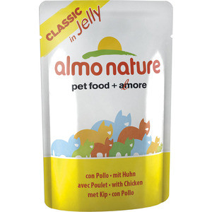 Паучи Almo Nature Classic in Jelly Adult Cat with Chicken с курицей в желе для кошек 55г (4736) almo nature almo nature classic dog chicken fillet