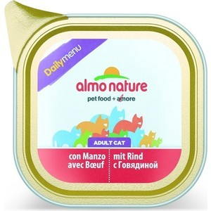 Консервы Almo Nature Daily Menu Bio Adult Cat with Beef паштет с говядиной для кошек 100г (4958) almo nature almo nature alternative adult cat salmon