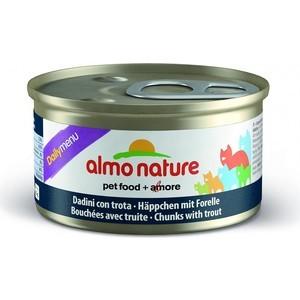 Консервы Almo Nature Daily Menu Adult Cat Chunks with Trout кусочки с форелью для кошек 85г (5009) ковш 1 5 л discovery 916194