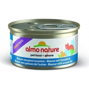 Консервы Almo Nature Daily Menu Adult Cat Mousse with Oceanic fish нежный мусс с океанической рыбой для кошек 85г (5016)