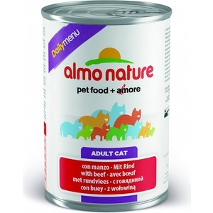 Консервы Almo Nature Daily Menu Adult Cat with Beef с говядиной для кошек 400г (5054)