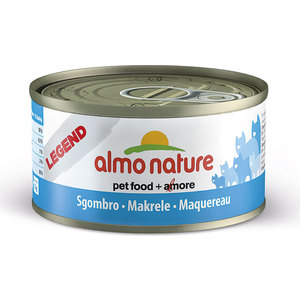 Консервы Almo Nature Legend Adult Cat with Mackerel с макрелью для кошек 70г (4175) консервы almo nature legend adult cat with tuna and clams с тунцом и моллюсками для кошек 70г 0929