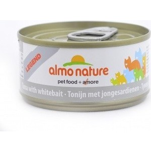 Консервы Almo Nature Legend Adult Cat with Tuna and White Bait с тунцом и сардинками для кошек 70г (1419) паучи almo nature classic in jelly adult cat with tuna and white bait с тунцом и сардинками в желе для кошек 70г 8418