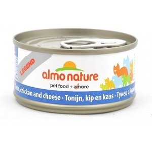 Консервы Almo Nature Legend Adult Cat with Tuna, Chicken and Cheese с тунцом, курицей и сыром для кошек 70г (1358) chicken of the sea tuna