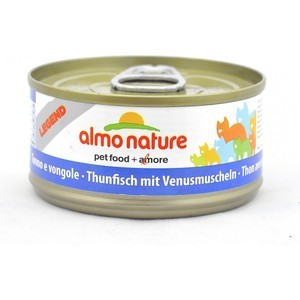 Консервы Almo Nature Legend Adult Cat with Tuna and Clams с тунцом и моллюсками для кошек 70г (0929) консервы almo nature legend adult cat with chicken and pumpkin с курицей и тыквой для кошек 70г 1331