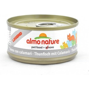 Консервы Almo Nature Legend Adult Cat withTuna and Squids с тунцом и кальмарами для кошек 70г (0837) паучи almo nature classic in jelly adult cat with tuna and white bait с тунцом и сардинками в желе для кошек 70г 8418