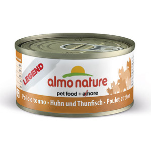 Консервы Almo Nature Legend Adult Cat with Chicken and Tuna с курицей и тунцом для кошек 70г (4144) паучи almo nature classic in jelly adult cat with tuna and white bait с тунцом и сардинками в желе для кошек 70г 8418