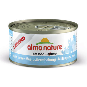 Консервы Almo Nature Legend Adult Cat with Mixed Seafood с морепродуктами для кошек 70г (7633) almo nature classic adult cat with chicken and white bait с курицей и сардинками для кошек 140г 4835