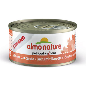 Консервы Almo Nature Legend Adult Cat with Salmon and Carrot с лососем и морковью для кошек 70г (1348) консервы almo nature legend adult cat with chicken and pumpkin с курицей и тыквой для кошек 70г 1331