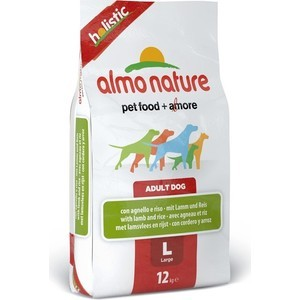 Сухой корм Almo Nature Holistic Adult Dog Large with Lamb and Rice с ягненком и рисом для взрослых собак крупных пород 12кг (2251) petrainer 330 yards remote training e collar pet998dbb rechargeable and waterproof dog training collar for 1 dog with safe beep vibration and shock electronic electric collar for medium or large dog trainer with newly upgraded blue backlight screen
