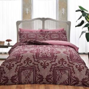 Комплект постельного белья TAC 2-х сп, сатин, Grant v4-bordo, бордовый (4245-20243) комплект постельного белья ecotex 2 х сп сатин сюссан кгмсюссан