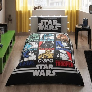 Детское постельное белье TAC 1,5 сп, ранфорс, Star wars (3810-19485)