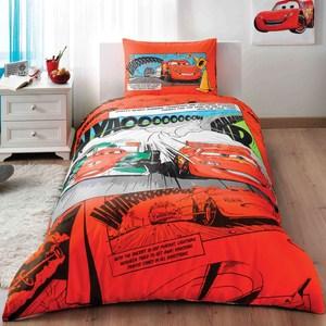 Детское постельное белье Disney 1,5 сп, ранфорс, Cars comics (3802-35757)