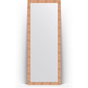 Зеркало напольное поворотное Evoform Definite Floor 78x197 см, в багетной раме - соты медь 70 мм (BY 6004) купить автошину к 197 в смоленске