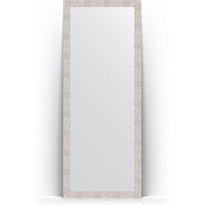 Зеркало напольное поворотное Evoform Definite Floor 78x197 см, в багетной раме - соты алюминий 70 мм (BY 6005) зеркало в багетной раме поворотное evoform definite 56x76 см соты алюминий 70 мм by 3051