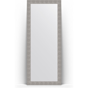 Зеркало напольное поворотное Evoform Definite Floor 81x201 см, в багетной раме - чеканка серебряная 90 мм (BY 6009) зеркало пристенное напольное evoform definite floor 81x201 см в багетной раме чеканка золотая 90 мм by 6008