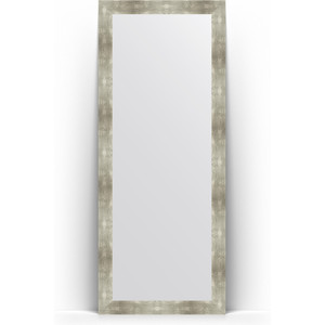 Зеркало напольное поворотное Evoform Definite Floor 81x201 см, в багетной раме - алюминий 90 мм (BY 6012) зеркало пристенное напольное evoform definite floor 81x201 см в багетной раме чеканка золотая 90 мм by 6008