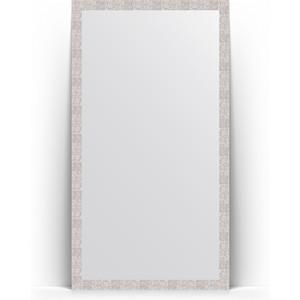 Зеркало напольное поворотное Evoform Definite Floor 108x197 см, в багетной раме - соты алюминий 70 мм (BY 6017) зеркало в багетной раме поворотное evoform definite 56x76 см соты алюминий 70 мм by 3051