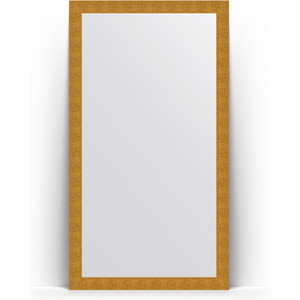 Зеркало напольное поворотное Evoform Definite Floor 111x201 см, в багетной раме - чеканка золотая 90 мм (BY 6020) зеркало в багетной раме поворотное evoform definite 70x90 см чеканка золотая 90 мм by 3182