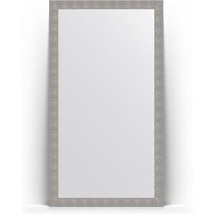 цены Зеркало напольное поворотное Evoform Definite Floor 111x201 см, в багетной раме - чеканка серебряная 90 мм (BY 6021)