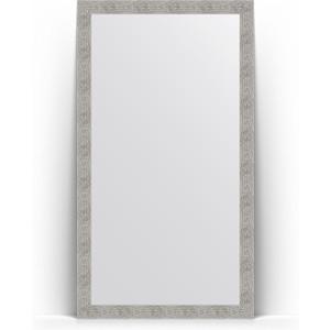 Зеркало напольное поворотное Evoform Definite Floor 111x201 см, в багетной раме - волна хром 90 мм (BY 6023) зеркало напольное поворотное evoform definite floor 111x201 см в багетной раме чеканка серебряная 90 мм by 6021