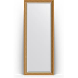 Зеркало напольное с фацетом поворотное Evoform Exclusive Floor 78x198 см, в багетной раме - состаренное золото с плетением 70 мм (BY 6101)