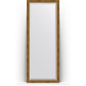 Зеркало напольное с фацетом поворотное Evoform Exclusive Floor 78x198 см, в багетной раме - состаренная бронза с плетением 70 мм (BY 6103) зеркало напольное с фацетом поворотное evoform exclusive floor 78x198 см в багетной раме прованс с плетением 70 мм by 6104