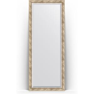 Зеркало напольное с фацетом поворотное Evoform Exclusive Floor 78x198 см, в багетной раме - прованс с плетением 70 мм (BY 6104) зеркало с фацетом в багетной раме поворотное evoform exclusive 53x83 см прованс с плетением 70 мм by 3407