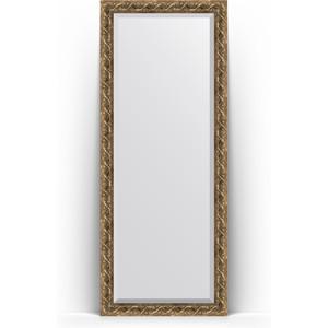 Зеркало пристенное напольное с фацетом Evoform Exclusive Floor 81x200 см, в багетной раме - фреска 84 мм (BY 6111) зеркало с фацетом в багетной раме evoform exclusive 56x86 см фреска 84 мм by 1239