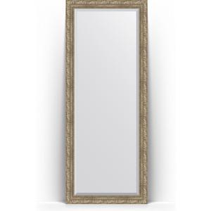 Зеркало напольное с фацетом поворотное Evoform Exclusive Floor 80x200 см, в багетной раме - виньетка античное серебро 85 мм (BY 6113) зеркало с фацетом в багетной раме поворотное evoform exclusive 60x145 см виньетка античное серебро 85 мм by 3539