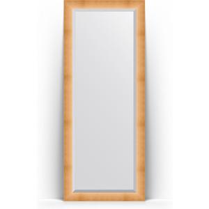 Зеркало пристенное напольное с фацетом Evoform Exclusive Floor 81x201 см, в багетной раме - травленое золото 87 мм (BY 6116) зеркало пристенное напольное с фацетом evoform exclusive floor 81x201 см в багетной раме римская бронза 88 мм by 6119
