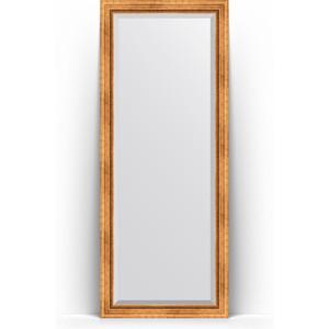 Зеркало пристенное напольное с фацетом Evoform Exclusive Floor 81x201 см, в багетной раме - римское золото 88 мм (BY 6117) зеркало пристенное напольное с фацетом evoform exclusive floor 81x201 см в багетной раме римская бронза 88 мм by 6119