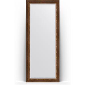 Зеркало напольное с фацетом поворотное Evoform Exclusive Floor 81x201 см, в багетной раме - римская бронза 88 мм (BY 6119) зеркало напольное с фацетом поворотное evoform exclusive floor 111x201 см в багетной раме римская бронза 88 мм by 6159